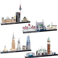 architecture building - New Models Mini Qute Hsanhe National Arts Street Venice Budapest Berlin New York City Building architecture Minifigures