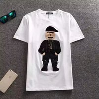 Wholesale Fashion Kids T Shirts Summer Trendy Mafia Figure Cartoon Embroidery Tees Junior s Cotton T Shirt Kids Gift