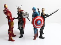 Wholesale 2016 Cartoon Avengers Superman spiderman batman Iron Man Marvel Cute Action Figures Toys Anime Collection Furnish Ornaments