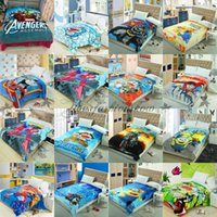 america design - 93 Designs Avengers Spiderman Minions Paw Frozen Princess Sofia Captain America Pooh Mickey Superhero Batman KT Blankets M100