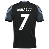 Soccer away black soccer - Thai Quality Champions League RONALDO Jersey rd Away Black Madrid Black Purple Soccer Jerseys Football Tops Customized