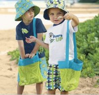 Wholesale Beach Mesh Bags Sand Away Collection Toy Bag Storage For Sea Shell Kids Children Tote Organizer Mommy s Helper Tools Free DHL