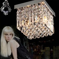 Wholesale chandelier led crystal ceiling light rectangle shape first class K9 advanced stainless steel V V chandeliers for dining room corridor