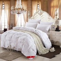 Wholesale 100 white duck goose down winter quilt comforter blanket duvet filling with cotton cover twin queen king size free fast ship W5