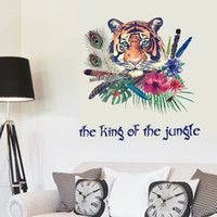 best design wallpapers - Removable Tiger King DIY home decorative wall sticker animal series self adhesive wallpaper sticker CM size best design for home decor