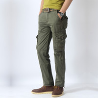 Wholesale Breathable Mens Pants Lightweight Rugged Cargo Regular Straight Fit Overalls Pants Outdoor Tactical Casual Four Colors All Size