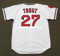 angels bowls - Throwback MIKE TROUT California Angels s Retro jerseys Home embroidery Men s baseball jersey