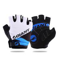 al por mayor half finger bicycle gloves-MTB Giant guantes de bicicleta de la bici del envío libre del medio dedo guantes accesorios de ciclismo bicicleta Bycicle guante