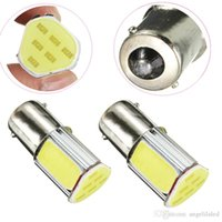 Wholesale Triangle Shape Car Brake Backup Light Bulb High Power COB LED DC12V BA15S Automotive Tail Lamp