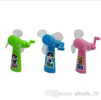 baby portable fan - Children Gift For Kids Summer Manual fans Portable Small Mini Hand Fan Mini baby fan Cartoon baby fans DDA2905