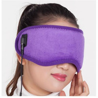 Wholesale New Reusable Hot Therapy Carbon Firber Eye Mask with USB Warm heating for Sleep Aid Eye Care Gift