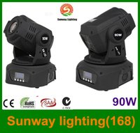 Wholesale 2XLOT W LED Moving Head spot stage lights Gobo DMX Projector Channels colors pattern CE UL SAA
