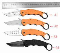 Cheap Free Shipping FOX karambit knife claw hunting camping knives karambit train survival new style pocket knife Folding knife training knife