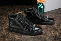 arena color - BL Arena Leather Hi Tops black color men s fashion shoes men s leather high top shoes lace up sneakers