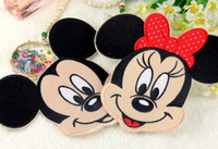 Wholesale 2016 Red Butterfly Minnie Mickey Iron On Embroidered Patches For Clothes Cartoon Badge Garment Appliques DIY Accessory HY1113