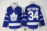 Wholesale Toronto Maple Leafs Matthews Blue Hockey Jersey Hot Sale Men s Ice Hockey Shirts Embroidered Hockey Wear Athletic Outdoor Apparel
