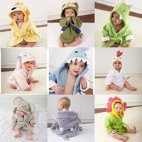baby cow blanket - Kids Cartoon Anima Bath Towels Shark Cloak Fox Robes Cotton Poncho Hooded Beach Towel Cow Cartoon Swim Towels Blankets A1003