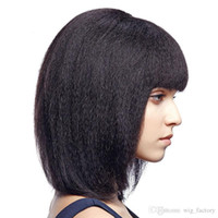 beautiful bobs hair - Short Bob Full lace Wig Fashion Style Malaysian Italian Yaki Human Hair Full Lace Wig For Beautiful Women