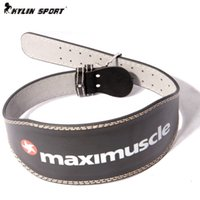 Wholesale new sport leather waist Support high grade leather weightlifting belt fitness belt squats Men s bodybuilding long
