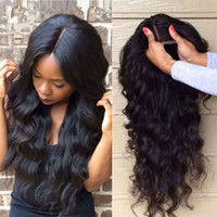 Wholesale brazilian human hair wigs body wave style hair product natural black color desnity lace front wigs