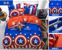 Wholesale bedding set twin Full Queen size duvet cover set reactive printed bed linen flat sheet bedclothes usa captain