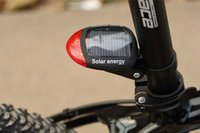 bicycle light solar - Bicycle Solar Powered LED Flashing Tail Light Cycling Rear Safety Lamp Mode SP002