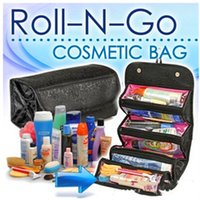 Wholesale Roll n go cosmetics bag for women new travel package Oxford cloth large capacity four layer multi functional organizer make up AA