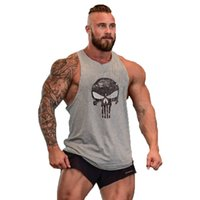 Wholesale Men s Stringer Bodybuilding Hurdling Training Sportsman Gym Shark Singlets Men Summer Sweat Muscles Loose Cotton Sports Vest Hot