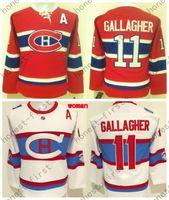 achat en gros de hiver classique jersey womens-2016 Rouge Brendan Gallagher Femmes Classique d'hiver de Montréal Canadiens Maillot Femme # 11 Brendan Gallagher Blanc Maillot de Hockey sur glace NWT