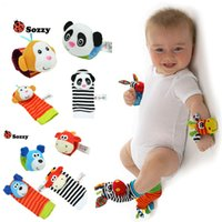 baby girl infant toys - Baby Sozzy Rattle Boys Girls Toy Baby Wrist Foot Finder Small Soft Children Infant Newborn Plush Sock Brinquedos XL T20