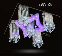 Wholesale AC220 V cm Remote COntrol Modern LED Crystal ceiling lighting Living room Sitting room Study Restaurant lamps led lamps