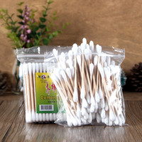Wholesale 100Pcs bag Makeup Clean Beauty Tools Double Stick Cotton Swabs The Natural Birch Tampons HS2238