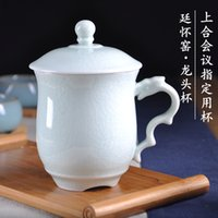 Wholesale 2016 Newest Jade Green Porcelain Chinese TingHuaiYao Tea Dragan Head Style Whole Hand Made High Quality For Tea Lover Ru Kiln