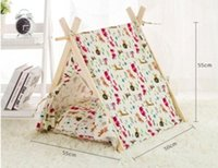 Wholesale Hot Sale Wood Outdoor Dog Bed Tent with Mattress