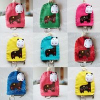 Wholesale 2016 Lovely Donkey Canvas Coin Bag Purses Multifunction Keys Cards Holders Kids Girls Coin Wallets Change Purse Cartoon String Pull Purses