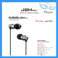 best ear buds - High Quality JBM MJ8600 In Ear Headphone For iPhone Samsung With MIC Precise Stereo Sound Computer Best Ear Bud Earphones