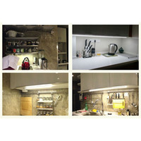 Wholesale Adjustable LED Cabinet lights US plug W White Brightness LED W Touch Switch Kitchen Wardrobe Light Lamp