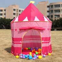 Wholesale HOT Castle Kid Child Baby Play Tent Fun Playhouse Outdoor Indoor Tent Den Pink shipping