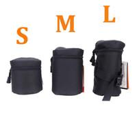 Wholesale Fly Leaf S M L Size DSLR Lens Bag Waterproof Camera Lens Bag Case Pouch for DSLR Nikon Canon Sony Camera Lenses