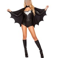 batman costumes for adults - Hot Sale Sexy Batman Halloween Black Costume For Woman Short Jumpsuit Adult Cosplay Party DressClothes Lady Christmas Gifts