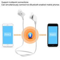 Wholesale Outdoor Sport Stereo Bluetooth EDR Headset Wireless In ear Headphone Hands free Earphones with Mic for iPhone Smartphone
