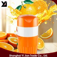 Wholesale Household Orange Lemon Juicer D533 Thickened Cup Six Blade Fixed Slot Safe For Baby Manual Press Squeeze Pulp Mini sized D533