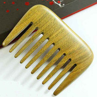 Wholesale Small Pocket Wood Comb Wide Tooth Afro Pick Hair Comb Handmade Sandalwood Wooden Anti Static Hairloss Massage Beard Care Comb