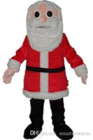 adult santa pictures - SX0724 real picture a christmas father mascot costume with red coat for adult to wear