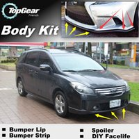 Wholesale Bumper Lip Lips For Ford i Max iMax i Max Front Skirt Deflector Spoiler For Car Tuning The Stig Recommend Body Kit Strip
