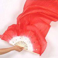 Wholesale Hot selling brand new dance fan veil belly dance fan veil silk fans veil belly dance accessory