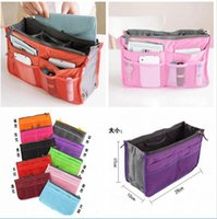Wholesale Women Fashion Organizer Travel Bag Purse Handbag Insert Tidy Makeup Cosmetic bag Storage Phone bag Pouch Tote Sundry MP3 Mp4 bags
