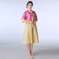 Wholesale New Korean National Costume Short Sleeve Lady Court Minority Clothing Korean Traditional Hanbok Dress