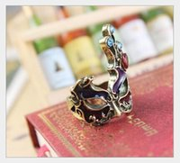 african masks sale - Rings Fashion jewerly New hot sale Gothic punk retro palace Face Mask Rings D093 women s gift cheap