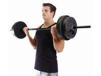 arm weights exercises - Set Workout Weight Lifting Barbell Exercise Plates Home Gym Lbs Weights